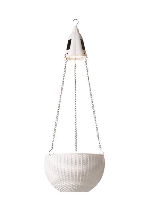 Solar Lighted Plastic Hanging Planter