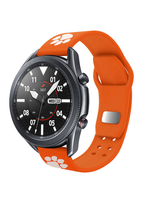 NCAA Clemson Tigers 20 Millimeter Silicone Band Compatible with Samsung Watch