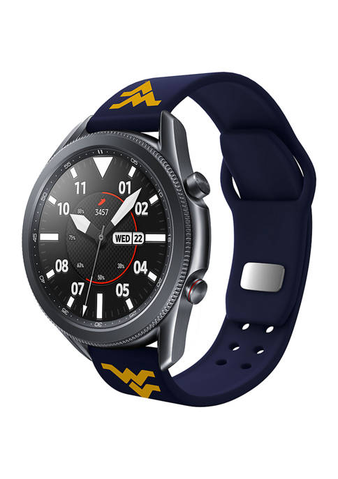 NCAA West Virginia Mountaineers 20 Millimeter Silicone Band Compatible with Samsung Watch