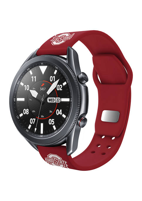 NCAA Ohio State Buckeyes 20 Millimeter Silicone Band Compatible with Samsung Watch