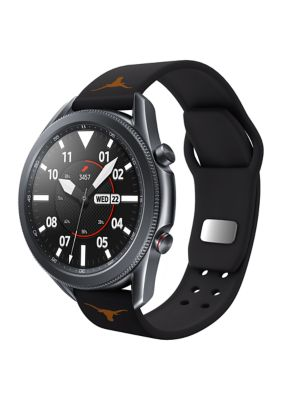 Affinity Bands Mens Ncaa Texas Longhorns 20 Millimeter Silicone Band Compatible With Samsung Watch