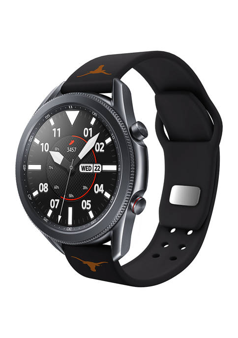 NCAA Texas Longhorns 20 Millimeter Silicone Band Compatible with Samsung Watch