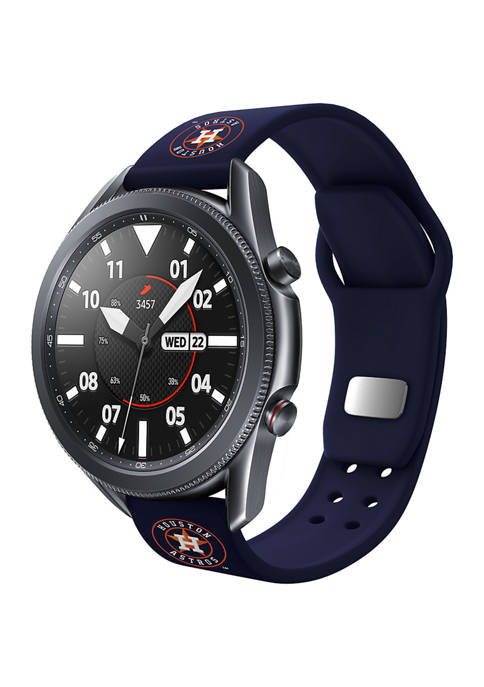 MLB Houston Astros Silicone Band Compatible with Samsung Watch