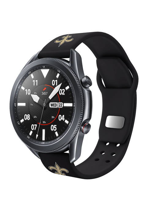 NFL New Orleans Saints 20 Millimeter Silicone Band Compatible with Samsung Watch