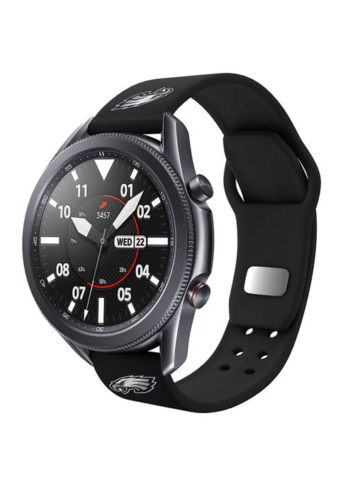 NFL Philadelphia Eagles 20 Millimeter Silicone Band Compatible with Samsung Watch