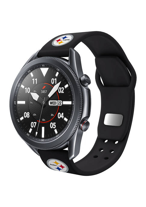 NFL Pittsburgh Steelers 20 Millimeter Silicone Band Compatible with Samsung Watch