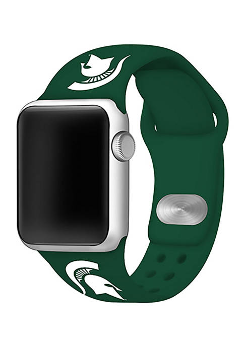 NCAA Michigan State Spartans Silicone Apple Watch Band 38mm