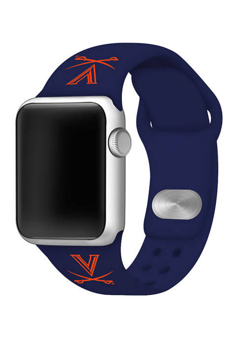 NCAA Virginia Cavaliers Silicone Apple Watch Band 38 Millimeter