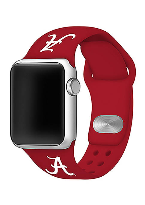 NCAA Alabama Crimson Tide Silicone Apple Watch Band 38 Millimeter