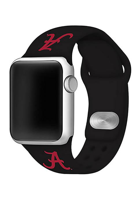 NCAA Alabama Crimson Tide Silicone Apple Watch Band 38 Millimeter