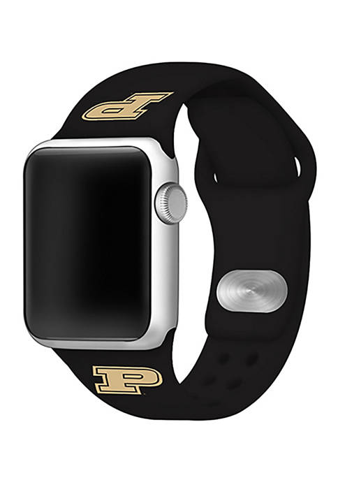 NCAA Purdue Boilermakers Silicone Apple Watch Band 38 Millimeter