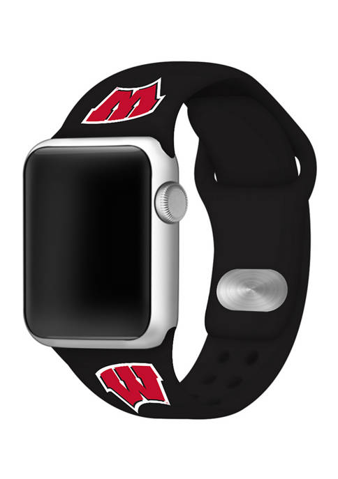 NCAA Wisconsin Badgers Silicone Apple Watch Band 38 Millimeter