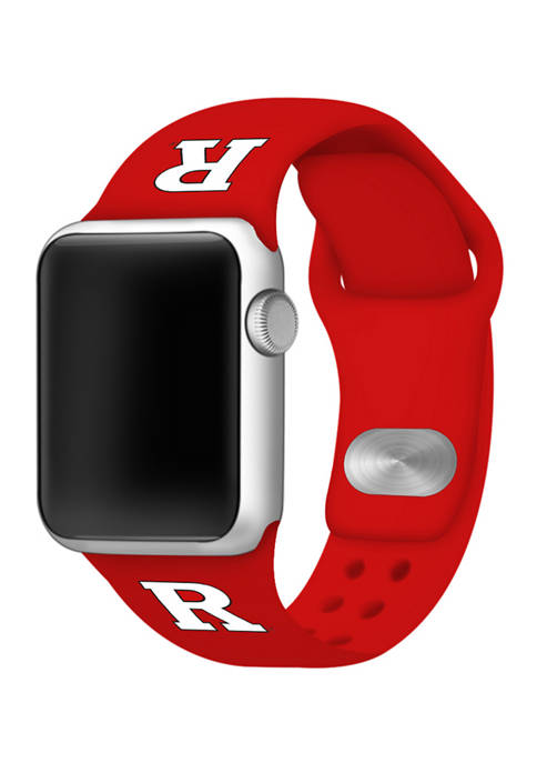 NCAA Rutgers Scarlet Knights Silicone Apple Watch Band 38 Millimeter