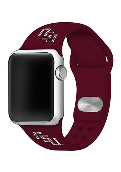 NCAA Florida State Seminoles Silicone 38 Millimeter Apple Watch Band