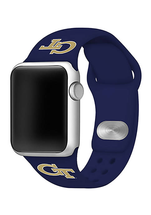 NCAA Georgia Tech Yellow Jackets Silicone 38 Millimeter Apple Watch Band