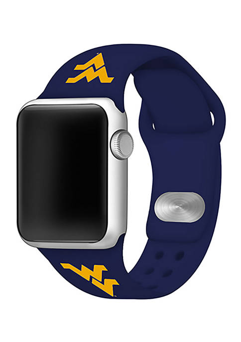 NCAA West Virginia Mountaineers Silicone 38 Millimeter Apple Watch Band