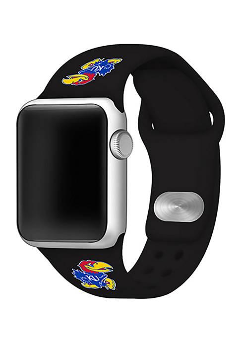 NCAA Kansas Jayhawks Silicone Apple Watch Band 38 Millimeter
