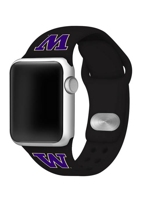 NCAA Washington Huskies Silicone Apple Watch Band 38 Millimeter