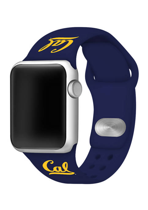 NCAA California Golden Bears Silicone Apple Watch Band 38 Millimeter