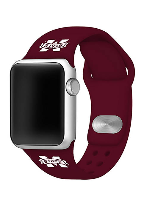 NCAA Mississippi State Bulldogs Silicone 38 Millimeter Apple Watch Band
