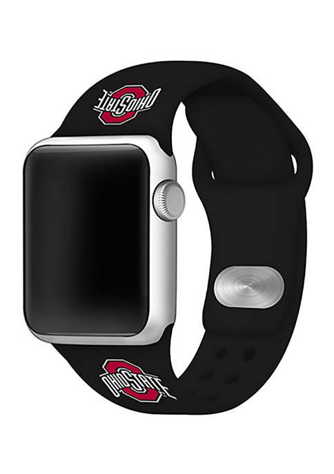 NCAA Ohio State Buckeyes Silicone Apple Watch Band 38 Millimeter