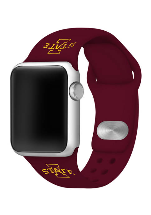 NCAA Iowa State Cyclones Silicone Apple Watch Band 38 Millimeter