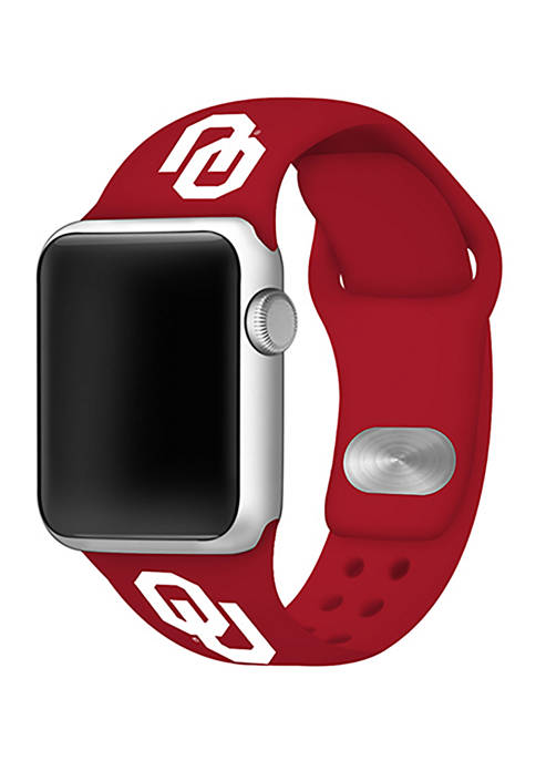 NCAA Oklahoma Sooners Silicone Apple Watch Band 38 Millimeter