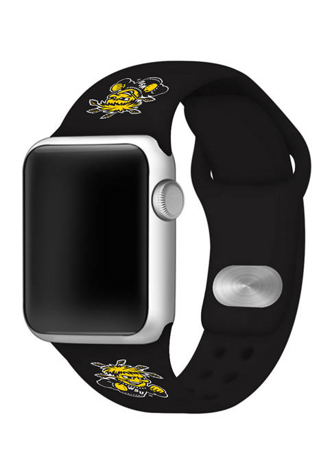 NCAA Wichita State Shockers Silicone 38 Millimeter Apple Watch Band