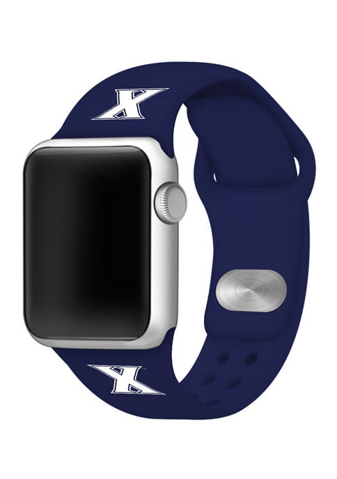 NCAA Xavier Musketeers Silicone Apple Watch Band 38 Millimeter
