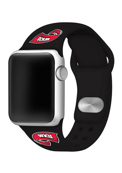 NCAA Western Kentucky Hilltoppers 38 Millimeter Silicone Apple Watch Band