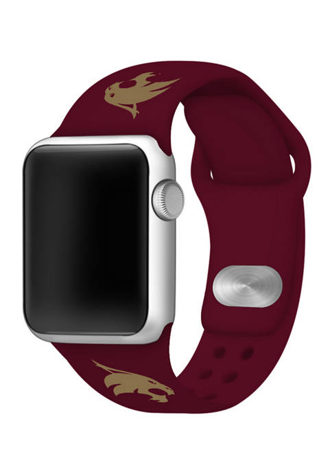 NCAA Texas State Bobcat 38 Millimeter Silicone Apple Watch Band