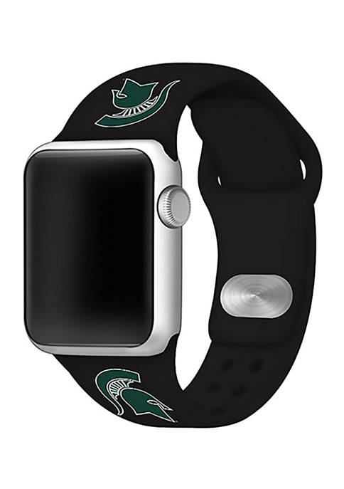 NCAA Michigan State Spartans 42 Millimeter Silicone Apple Watch Band