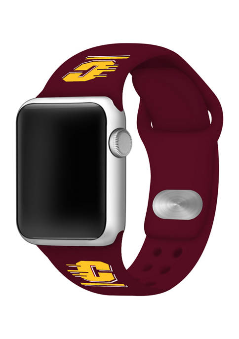 NCAA Central Michigan Chippewas Silicone Apple Watch Band
