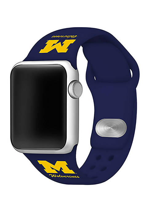 NCAA Michigan Wolverines 42 Millimeter Silicone Apple Watch Band