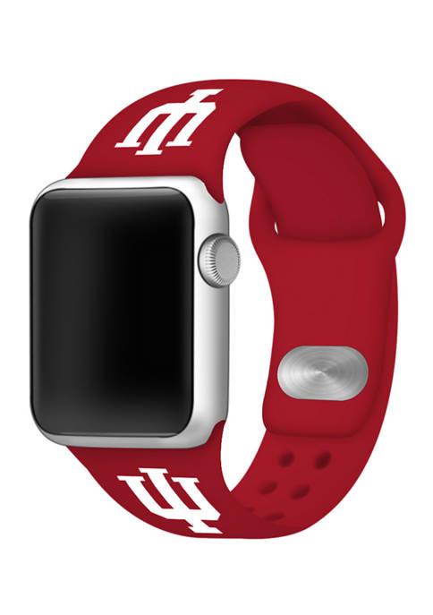 NCAA Indiana Hoosiers 42 Millimeter Silicone Apple Watch Band