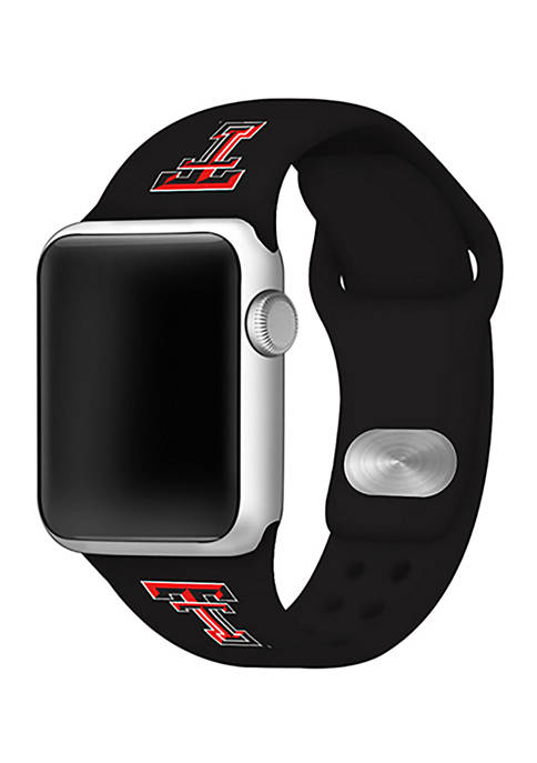 NCAA Texas Tech Raiders 42 Millimeter Silicone Apple Watch Band