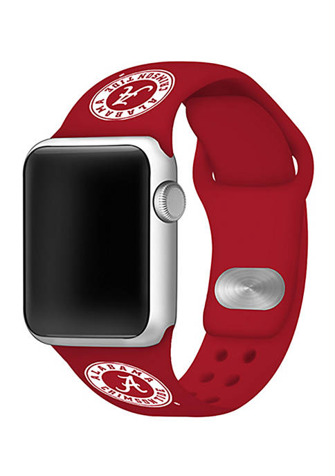 NCAA Alabama Crimson Tide 42 Millimeter Silicone Apple Watch Band