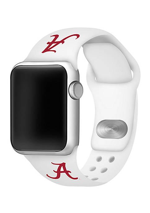 NCAA Alabama Crimson Tide 42 Millimeter Silicone Apple Watch Band
