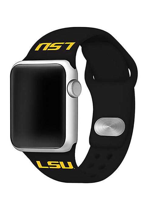 NCAA LSU Tigers 42 Millimeter Silicone Apple Watch Band
