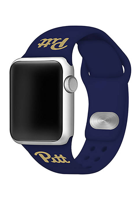 NCAA Pittsburgh Panthers 42 Millimeter Silicone Apple Watch Band