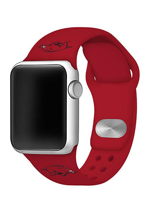 NCAA Arkansas Razorbacks 42 Millimeter Silicone Apple Watch Band