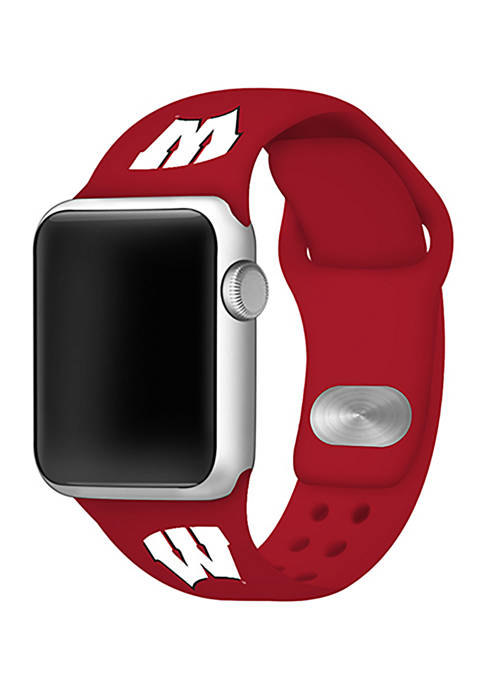 NCAA Wisconsin Badgers 42 Millimeter Silicone Apple Watch Band
