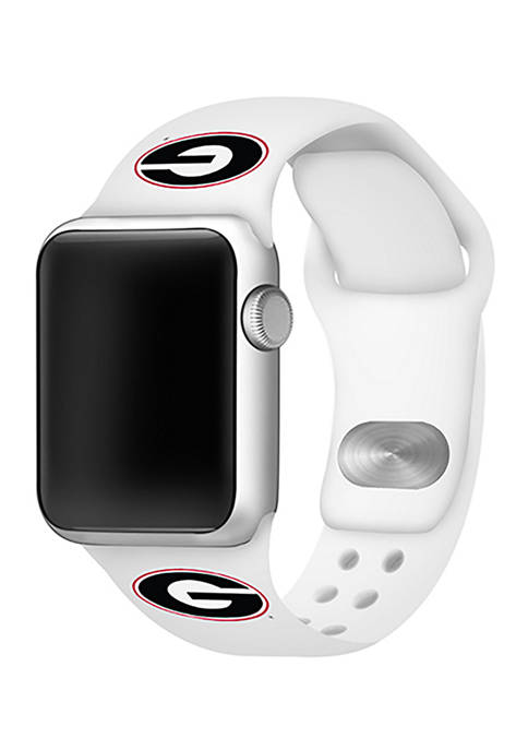 NCAA Georgia Bulldogs 42 Millimeter Silicone Apple Watch Band