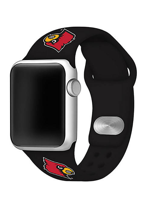 NCAA Louisville Cardinals Silicone Apple Watch Band 42 Millimeter