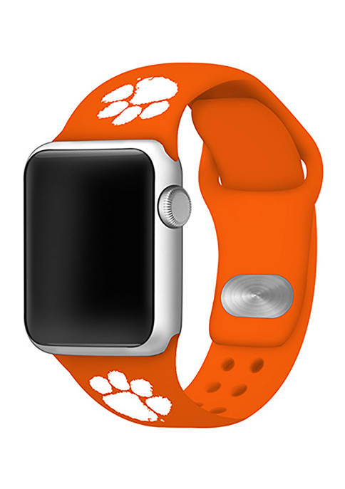 NCAA Clemson Tigers Silicone Apple Watch Band 42 Millimeter