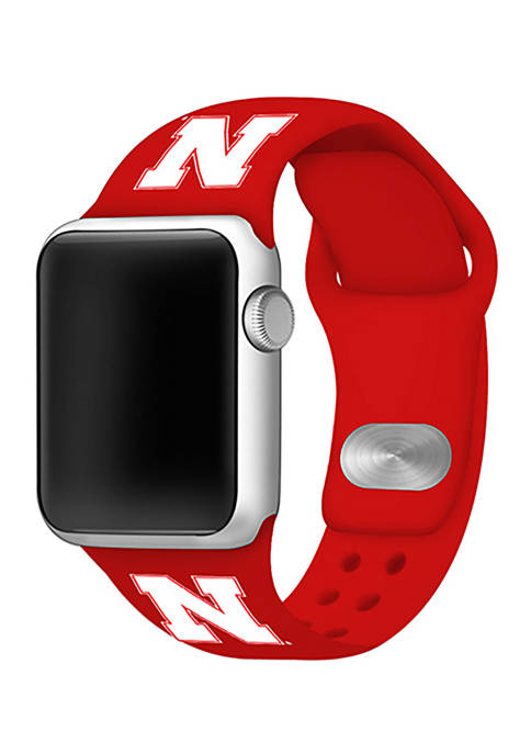 Affinity Bands NCAA Nebraska Cornhuskers Silicone Apple Watch