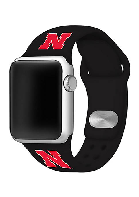 NCAA Nebraska Cornhuskers Silicone Apple Watch Band 42 Millimeter