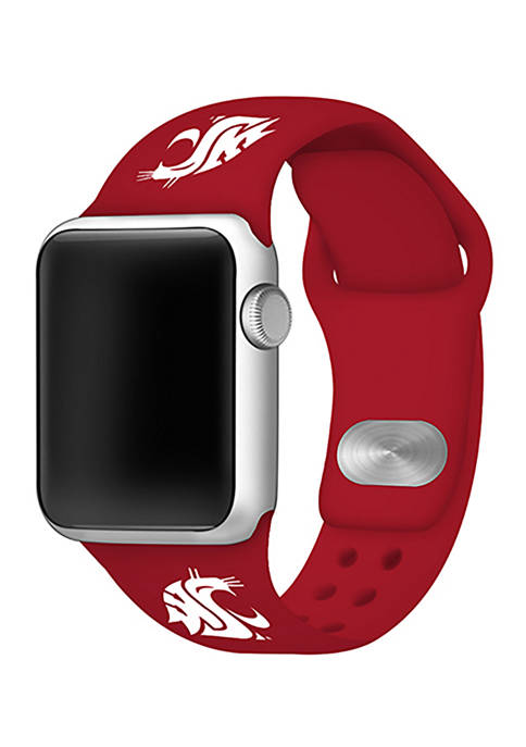NCAA Washington State Cougars Silicone 42 Millimeter Apple Watch Band