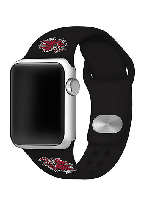NCAA South Carolina Gamecocks Silicone 42 Millimeter Apple Watch Band