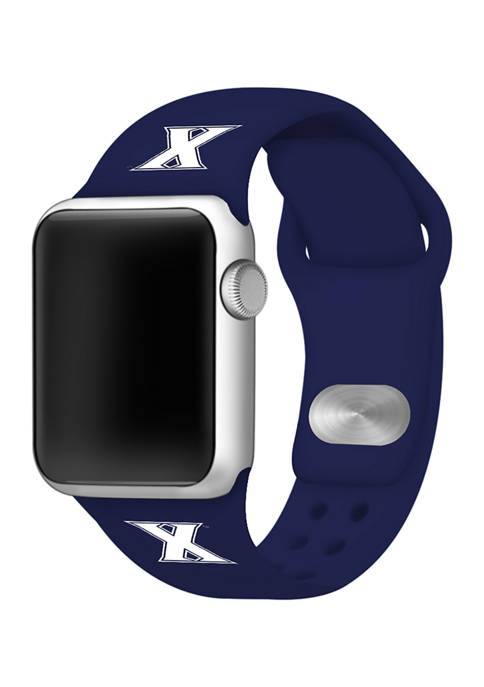 NCAA Xavier Musketeers Silicone Apple Watch Band